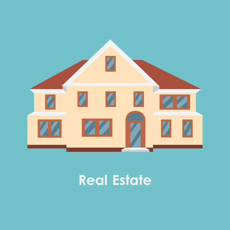improved: Vector illustration of color house and real estate