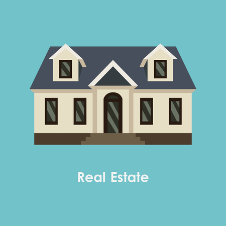 improved: Vector illustration of house and real estate