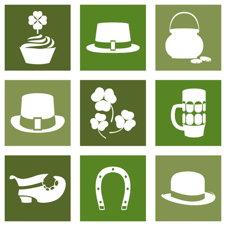 saint patty's: Vector modern flat color design icon on Saint Patricks Day