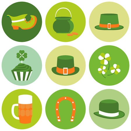 patric: Vector modern flat design icon on Saint Patricks Day