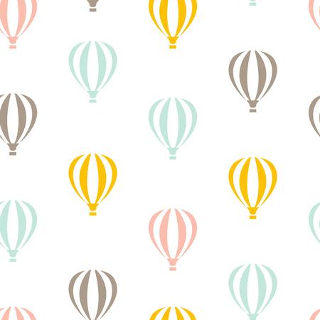 Retro seamless travel pattern of color balloons Illustration