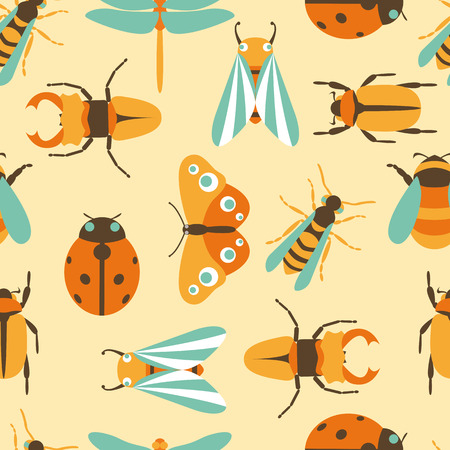 ladybird: Vector illustration of insects icons collection Illustration
