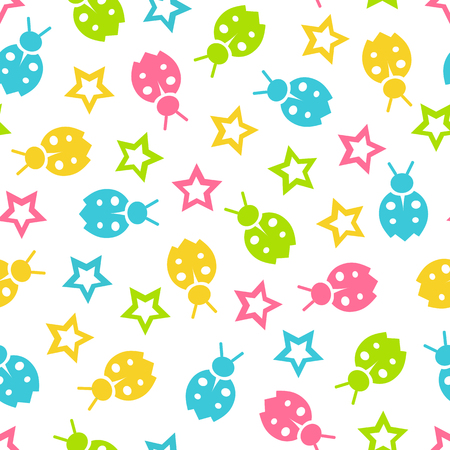 babyroom: Seamless vector wallpaper color pattern for kids Illustration