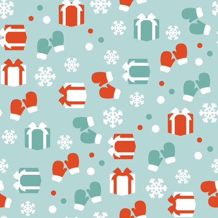 Vector seamless pattern of winter background.