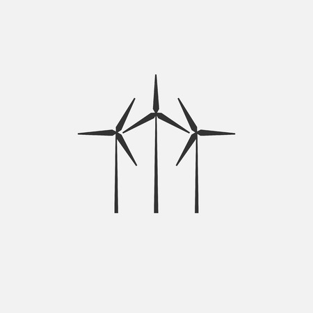 Wind turbine energy icon vector illustration graphic design 일러스트