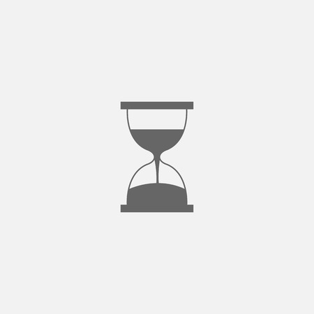 Vector symbol of hourglass web line isolated icon Illustration
