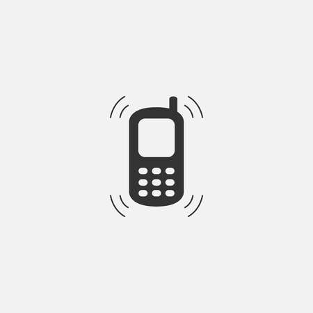 Vector object of phone web line isolated icon