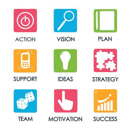 Vektor-Illustration Call-to-Action-Konzept mit Symbol Vektorgrafik
