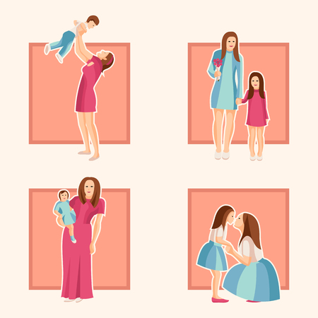 Vector design element of Mothers Day for card, poster, banner, and other use