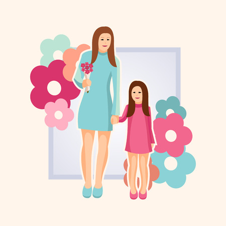 Vector illustration of Mothers Day for card, poster, banner, and other use Illustration