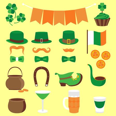 Vector design color elements set for St. Patricks Day