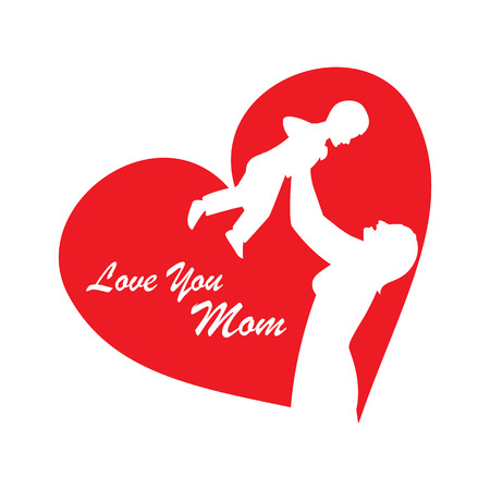 Vector illustration of Mothers Day for card, poster, banner, and other use  イラスト・ベクター素材