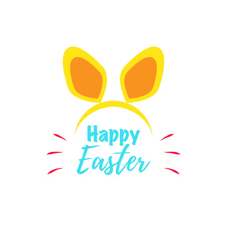 Happy Easter text as logotype and icon Ilustração