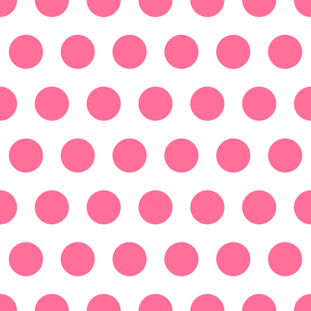 Pink vector seamless pattern background polka dot