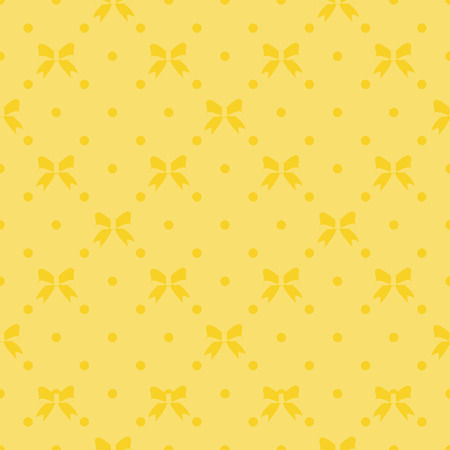 Seamless pattern with beautiful bows on orange background