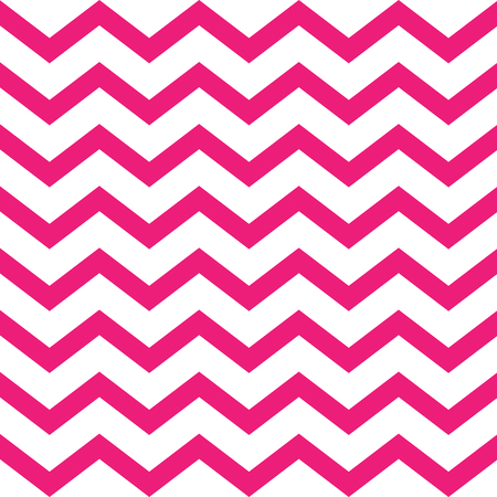 Pink vector seamless zigzag pattern on white background Çizim