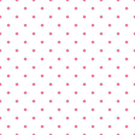 Seamless pattern background polka dot in pink color