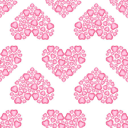 Crystal Heart seamless pattern. Background With Heart. Happy Valentine Pattern. Wedding pattern