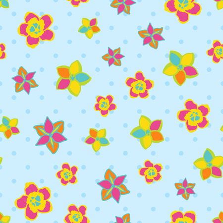Seamless abstract floral color spring pattern