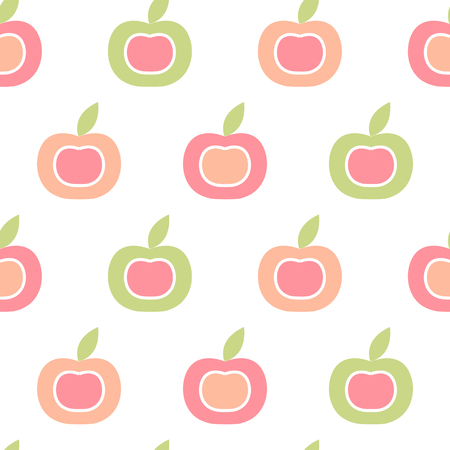 Spring vector seamless apple pattern in different color Banque d'images - 121552047