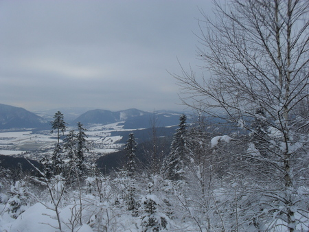 view of Kysucke Nove Mesto in winter