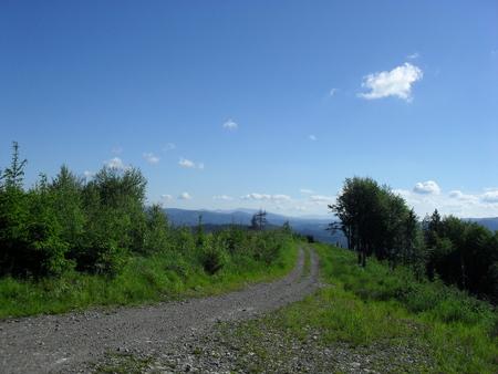 hiking trail to Nova Bystrica Stock Photo