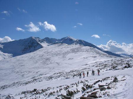 Highest peak in Balkans - mountain Rila, Bulgaria Stock Photo