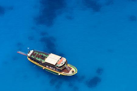 turistic: turistic boat cruising in sea