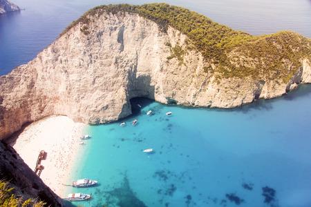 shipwreck: Shipwreck on the beach Navagio  on Zakynthos