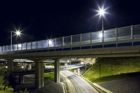 Night city bypass of the Banska Bystrica Slovakia