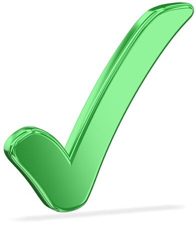 zecke: Check Mark mit einem Schlagschatten v2