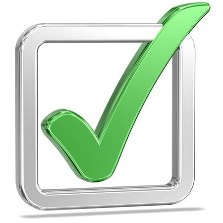 tick: Tickbox comprobar con un v1 Sombra Foto de archivo