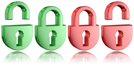 Padlock Icons With Partial Reflections photo