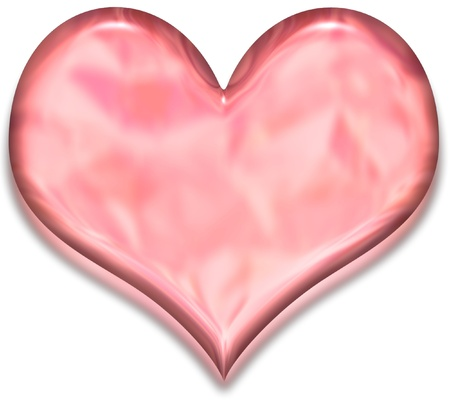corazon cristal: Coraz�n de cristal rojo Foto de archivo