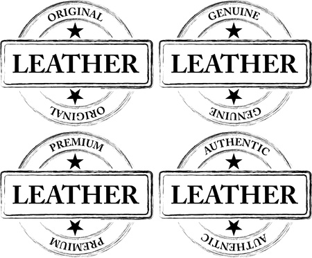 leather label: Worn Out Leather Seals (Stamps)