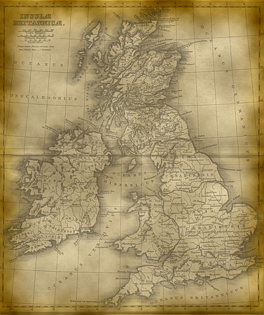 scotish: Old Map Of The Great Britain