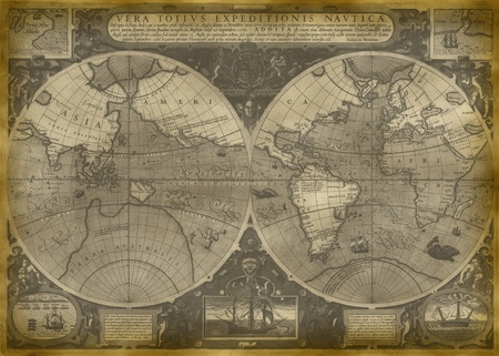 Old Map Of The World Stock Photo - 11545040