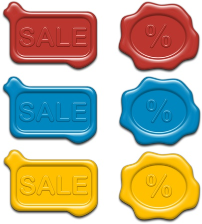 Sale Related Stamps (Seals Or Stickers) Stock Photo - 11545029