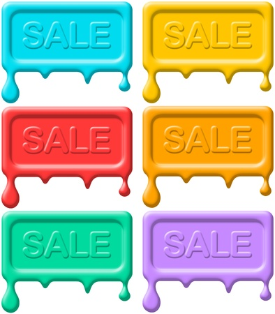Melting Sale Seals Stock Photo