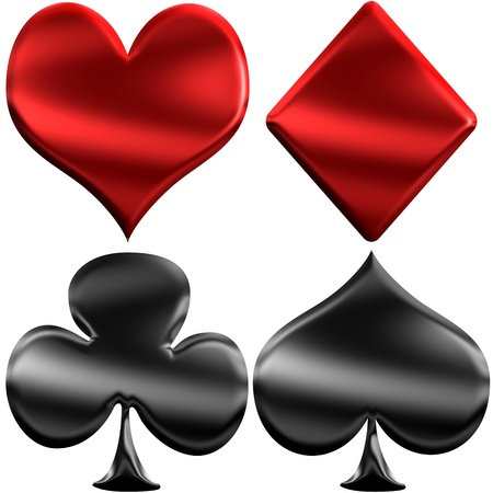 Shiny Plastic Playing Cards Symbols