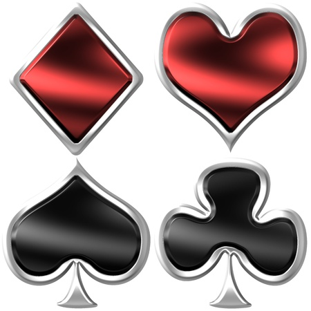 playing card: Metallic Playing Cards Symbols