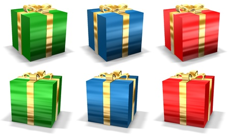 Christmas Presents Suitable For Greeting Card Design Stock Photo