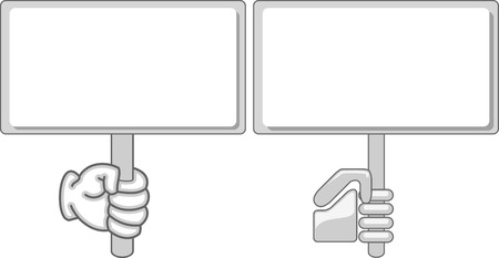 Hand held sign