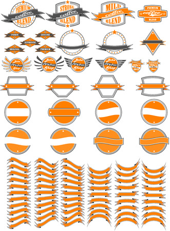 Retrovintage logo elements Illustration