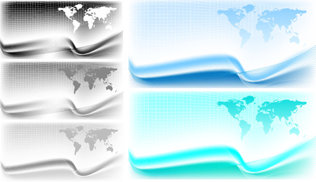 Abstract backgrounds with a world map outlines