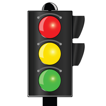 traffic light vector illustration on white background Vector
