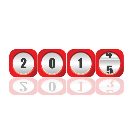 2015 counter for new year illustration on white