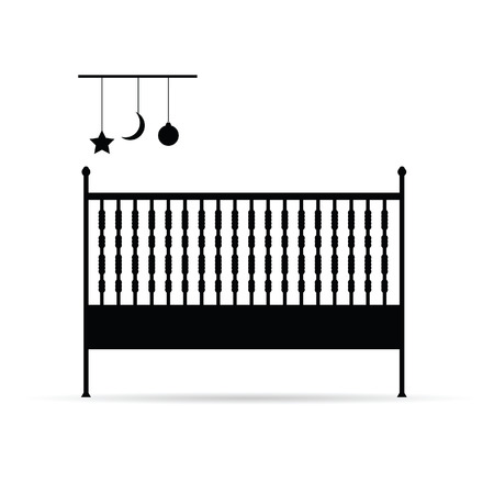 baby crib vector illustration on white background Vector