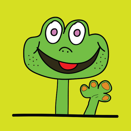 prehistorical: cute dinosaur had vector illustration on green background