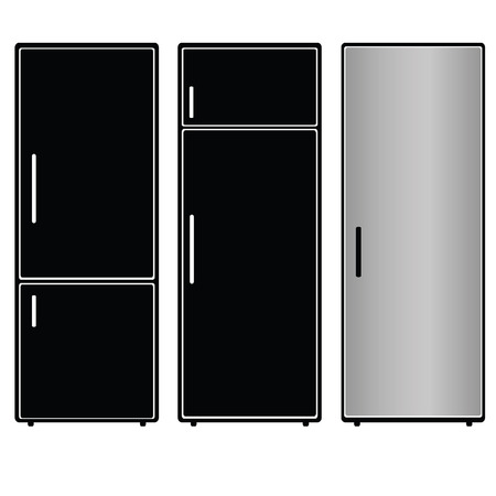 fridge vector illustration black silhouette on white Vector